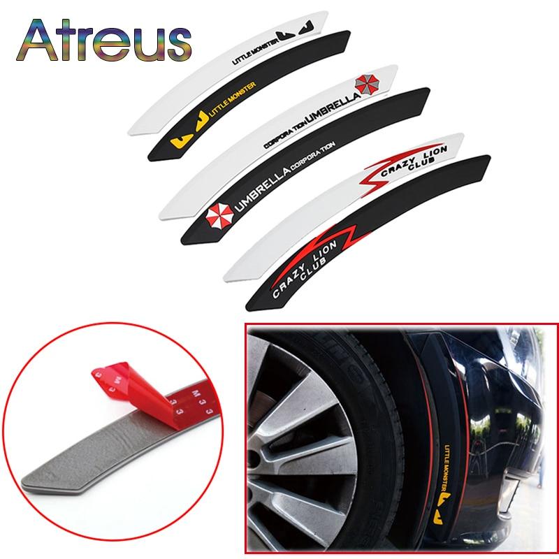 Atreus автомобильное колесо для бровей декоративная лента для предотвращения столкновений наклейка для kia Ceed Suzuki grand vitara Citroen xsara picasso C3 Lada