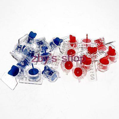 10 шт., простой в использовании измеритель воды и электричества, свинцовое уплотнение, противоугонное, без проводной кнопки, форма, черный, красный, оранжевый, желтый, синий, зеленый