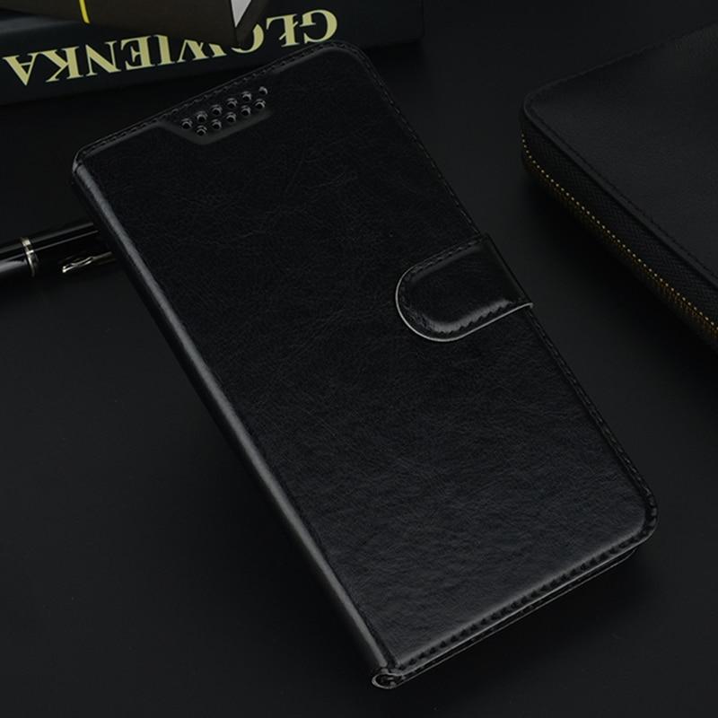 Para Leagoo M5 M7 M8 M9 M11 Pro Flip Wallet Funda de cuero para teléfono funda protectora para Leagoo M5 Plus funda negra