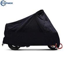 Couverture de moto noire étanche XL/2XL/3XL/4XL   190T couverture de pluie extérieure de haute qualité pour Harley Honda Kawasaki Yamaha Suzuki