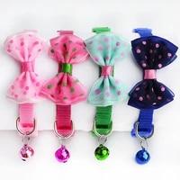 hot puppy adjustable pet collar cute bowknot necktie dog cat nylon bell kitten bow tie collar