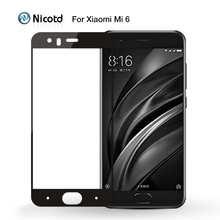 Защитное стекло Nicotd, закаленное стекло для Xiaomi mi 6