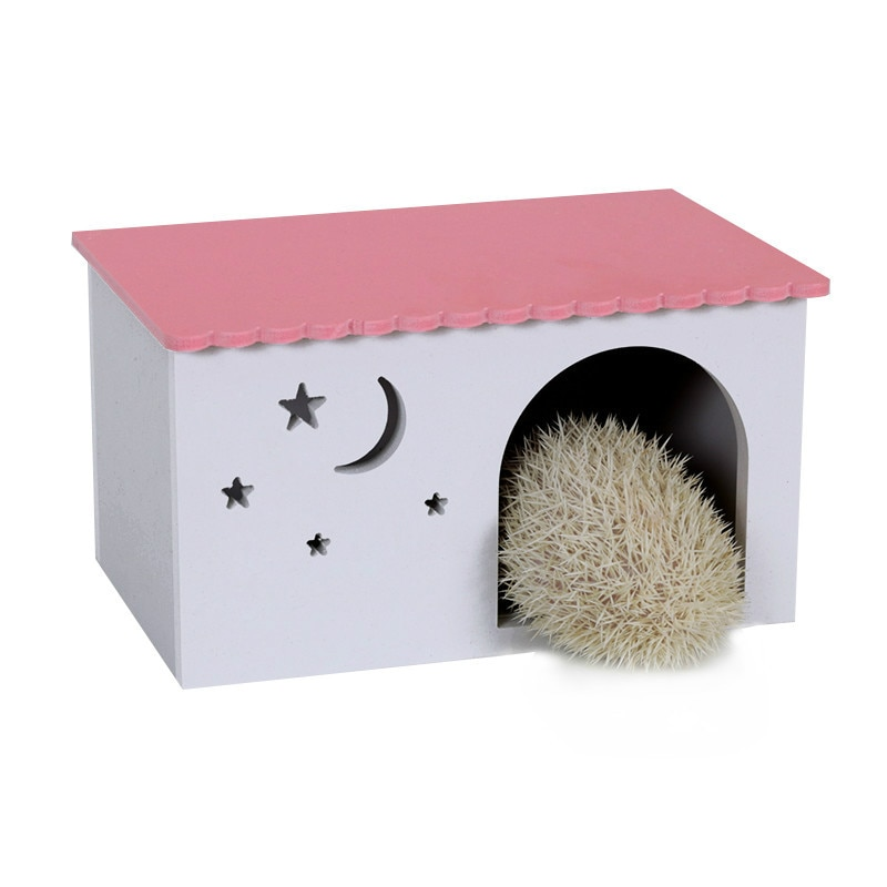 Caja de jaula de erizo de nido de conejo ecológico A1, nido de cerdo de guinea holandés, cabina de juguete de color multi-selección AP1091410