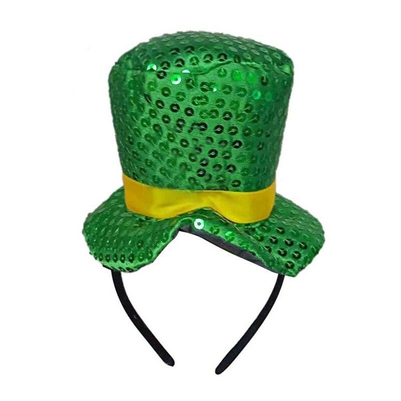 Green Party Saint Patrick CostumeCap Top Hat Headband Ireland Irish Hats st patrick's day