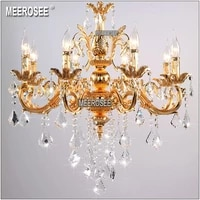 classic crystal chandelier lighting fixture crystal lustre lamps for foyer luminaria lobby lampadario clear crystal chandelier