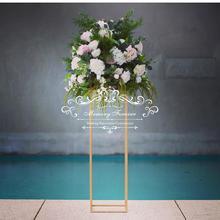 Support de présentation de fleurs 10 pièces   Fête, route plomb pièces de center de Table, pilier en métal or, grand Vase, décoration de mariage