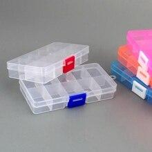 1 pièces multifonctionnel haute résistance 13*6*3 cm avec résistance Visible transparente en plastique leurre de pêche matériel de pêche boîte à appâts