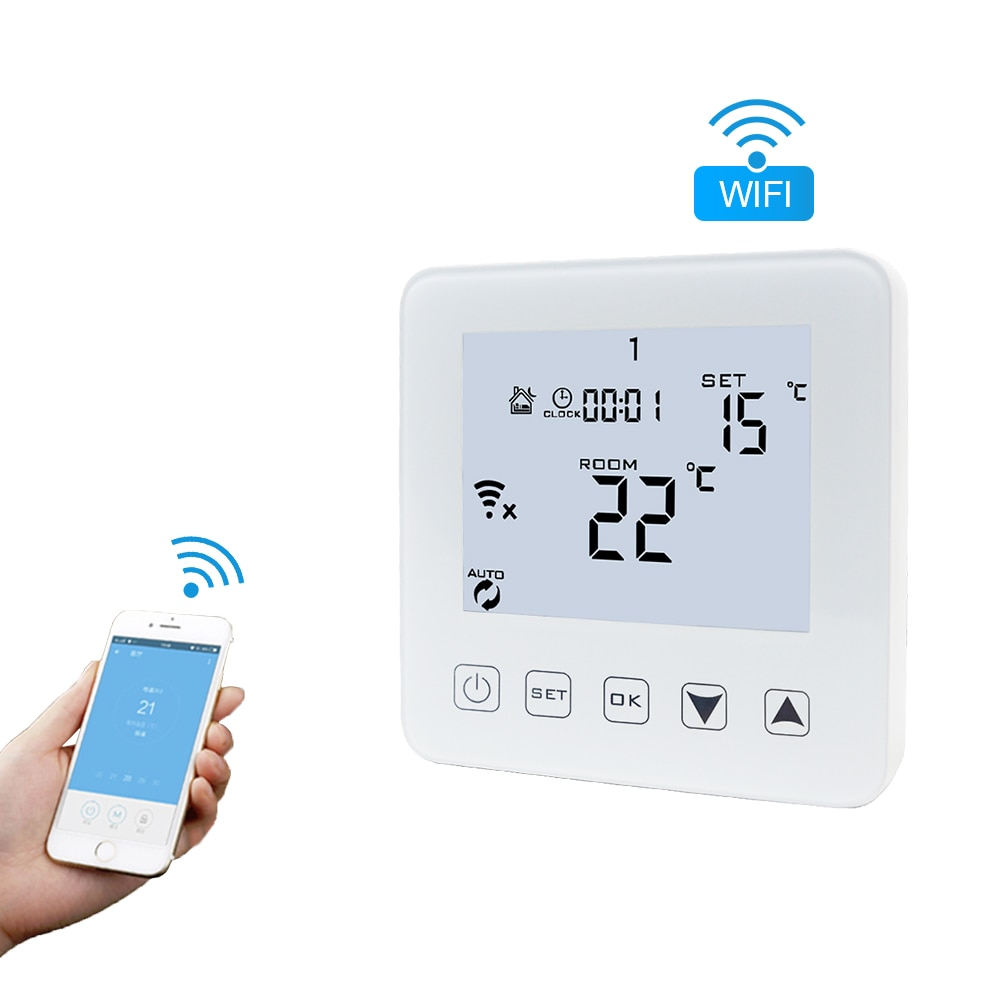 16a wifi inteligente termostato controlador de temperatura digital display lcd termostato programável universal para água/piso elétrico