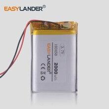 Batteries rechargeables de LiPo de polymère de Lithium de batterie de la CE ROHS 3.7V 2000mAh 103450 pour le haut-parleur de Bluetooth de dualshock 4