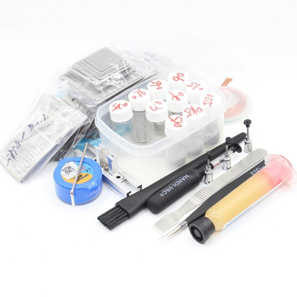 810/model BGA Stencil Bga Reballing Stencil Kit with direct heating Reballing station Replace BGA Solder balls solder paste