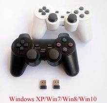 Manette sans fil du contrôleur 2.4Ghz de jeu de PC de gamepad de 2 pièces avec le mode PC-360 et la double vibration pour lordinateur Windows XP/ 7/ 8/ 10