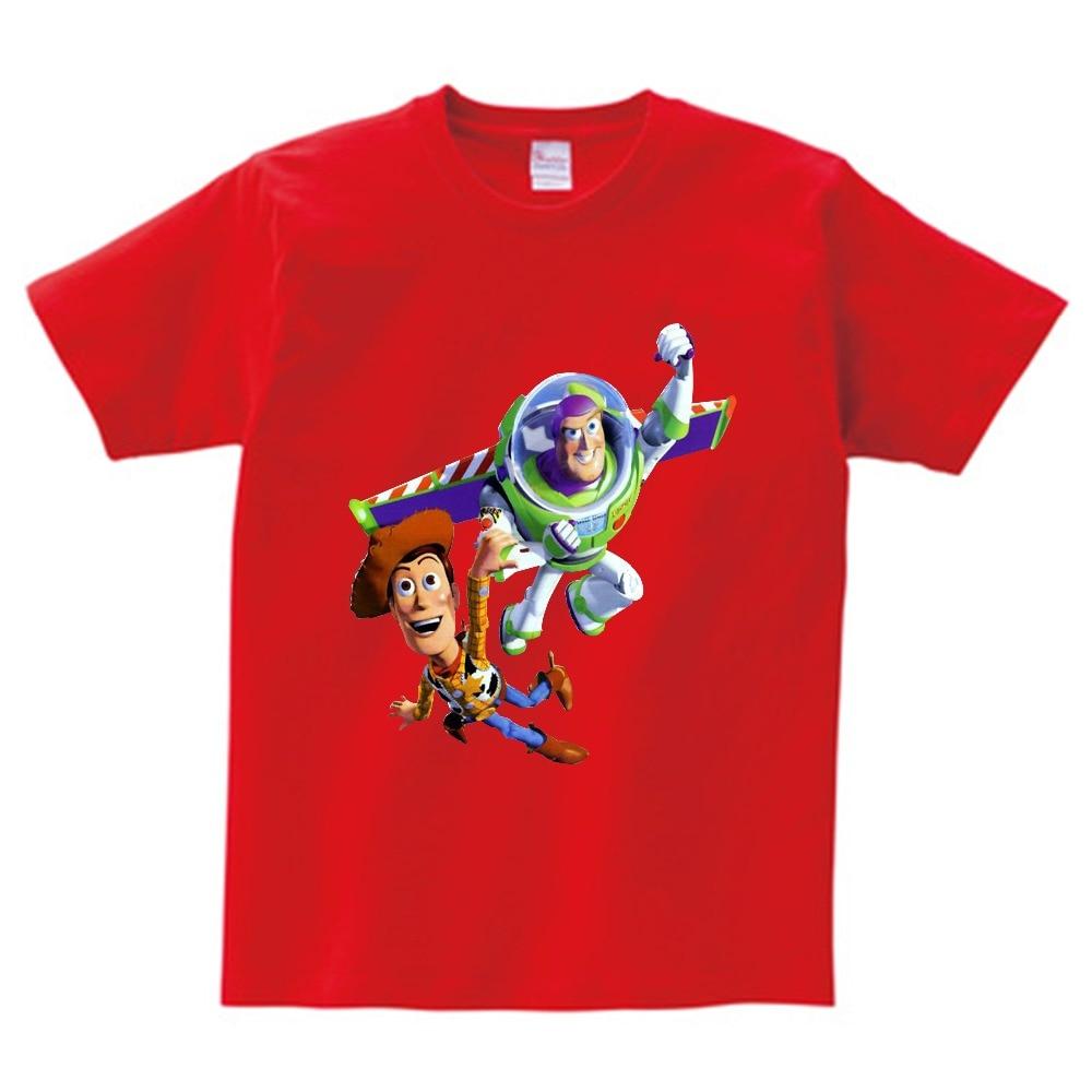 Buzz lightyear children T-shirt in the summer the boys and girls dress 100% cotton T shirt kids Multi-color t shirt camiseta  NN