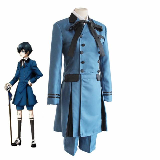 Black Butler Cosplay Japanischen Anime Kuroshitsuji Ciel Phantomhive Emboitement Sebasti Aristocrat Cosplay Kostüm Zubehör