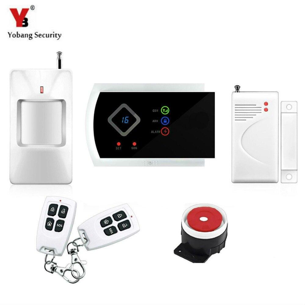 Yobang-Alarma de detección de movimiento PIR, sistema de Alarma DE SEGURIDAD PARA...