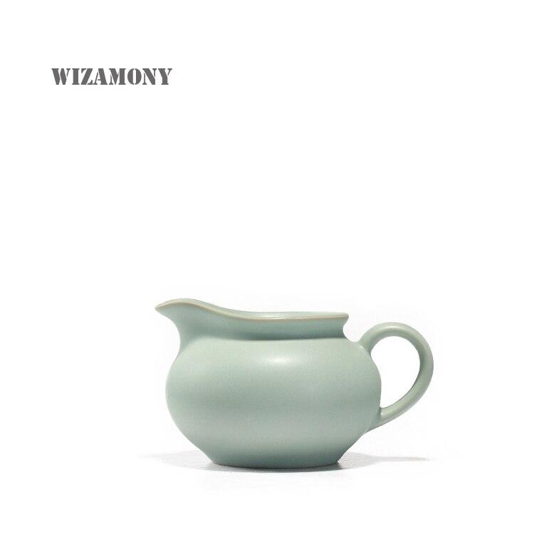 WIZAMONY 1 قطعة الشاي مجموعة الصينية رو فرن الصقيل هاندماكي عادل القدح كوب العدالة إبريق نقاط من الشاي وير الكونغ فو الشاي مجموعة فنجان
