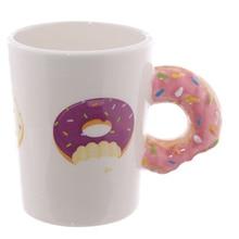 1Piece Creative Ceramic Mugs Kawaii Donut Mug Hot Cocoa Lover Tea Coffee Mug Personalized Gift Day Present Doughnut Donuts