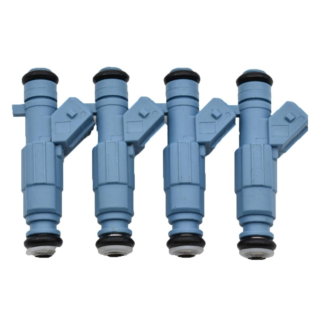 Boquilla de inyector de combustible 4 piezas para PEUGEOT 206 307 CITROEN C4 COUPE VTS 2004-2008 0280156139