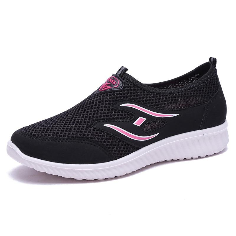 Летняя женская обувь из сетчатого материала повседневная с мягкой подошвой