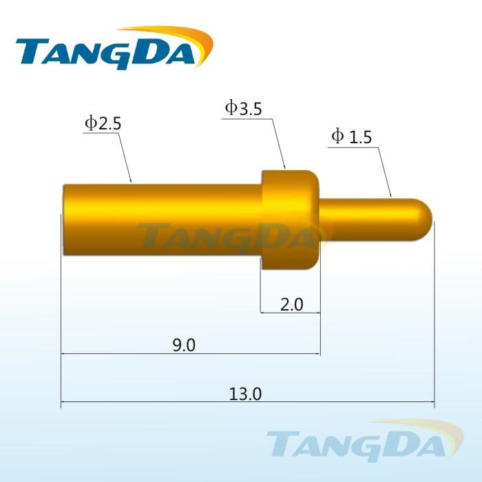 Tangda بوجو دبوس موصل dhl/ems d3.5 * 13.0 ملليمتر 1.5a موصل إشارة دبوس عالية الربيع التحقيق الحالي