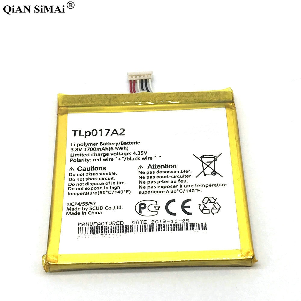 Batterie 1700mAh TLp017A1 pour Alcatel OT6012 idole à une touche Mini 6012D 6012X 6012A 6012W TLp017A2 remplacement de téléphone portable