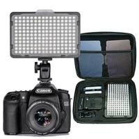 Светодиодный светильник для цифровой зеркальной фотокамеры, фотостудии, 176 шт., непрерывный светильник, аккумулятор и USB-зарядное устройств...