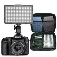 176 pcs led light for dslr camera camcorder continuous light battery and usb charger carry case photography photo video studio