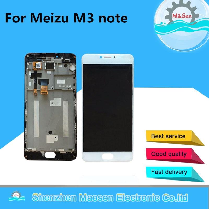 "M & Sen 5,5 ""para Meizu m3 Note M681Q M681H M681C pantalla LCD + Digitalizador de Panel táctil con marco (no para L681H)"