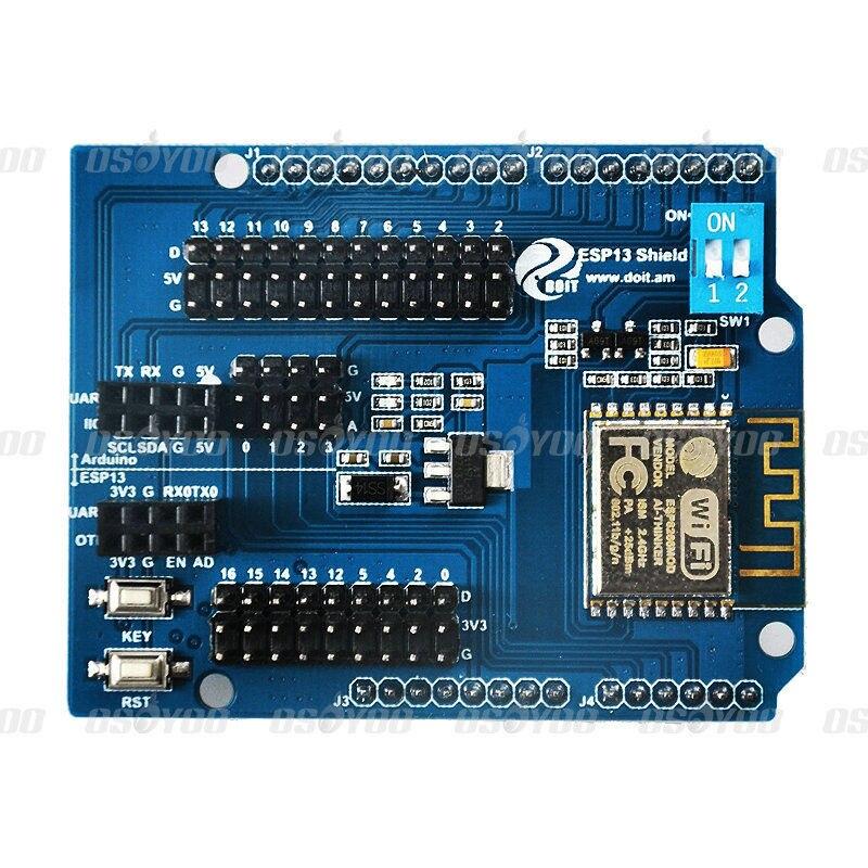 Servidor Web ESP8266 puerto Serial WiFi Shield placa de expansión ESP-13 Compatible con Arduino UNO MEGA 2560 coche robot inteligente