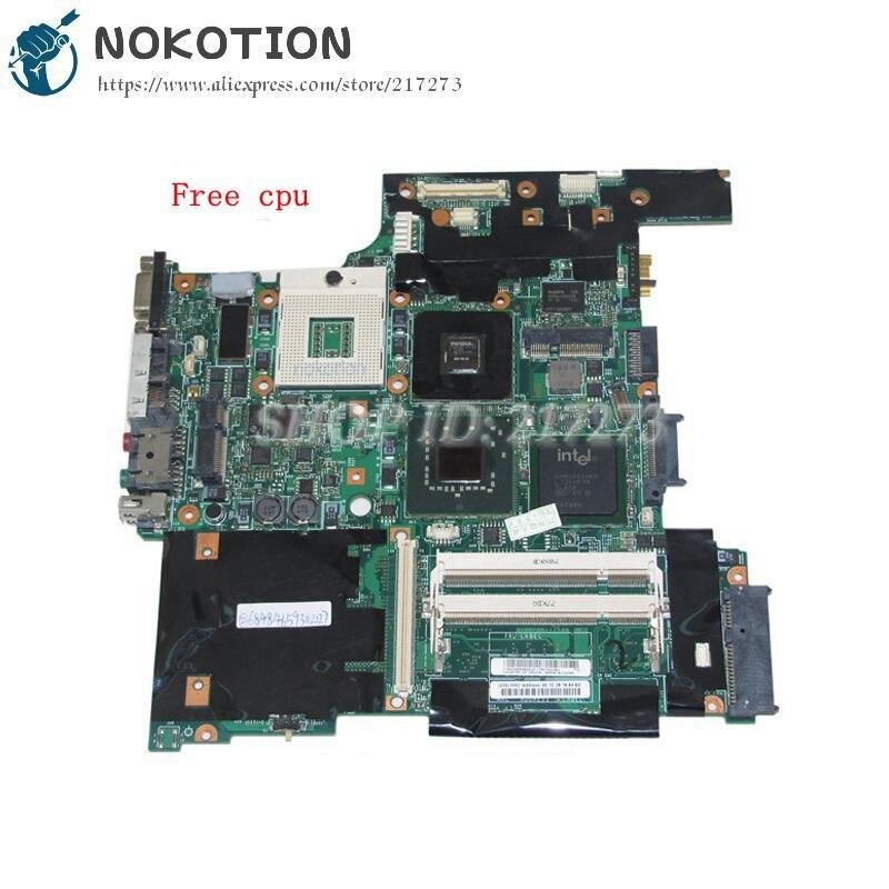 NOKOTION FRU 42W7649-لوحة أم للكمبيوتر المحمول Lenovo Thinkpad T61 مقاس 14 بوصة, 965PM DDR2 NVS140M ، وحدة معالجة مركزية رسومات منفصلة مجانية