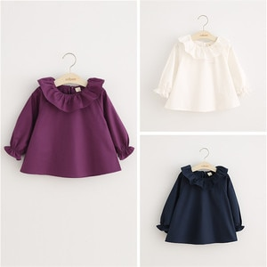 2020 autumn Baby Girls Shirts Tops Blouse Children Cotton Hollow Long Sleeve School Casual Clothing Kids Princess triangle Shirt