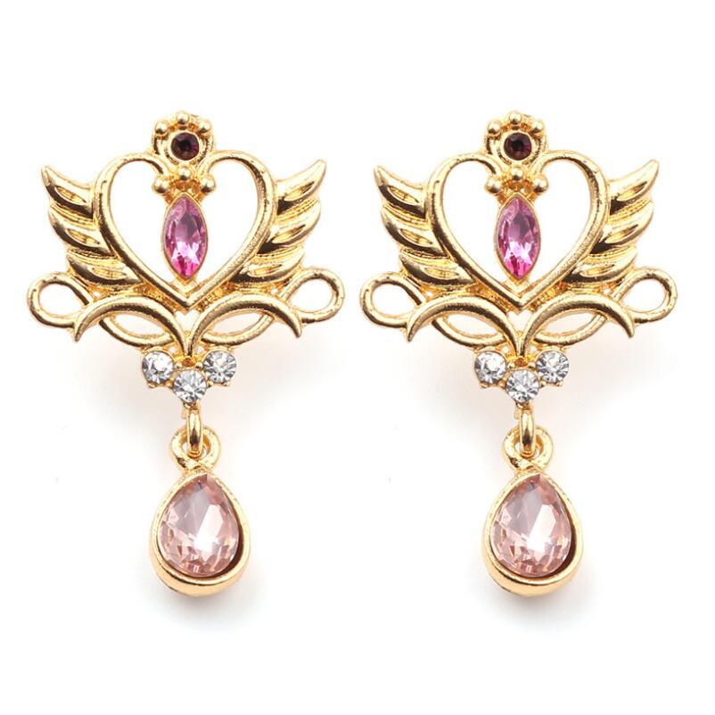 Sailor Moon 25th Anniversary Princess Serenity Tiara Earrings Anime Cosplay Jewelry