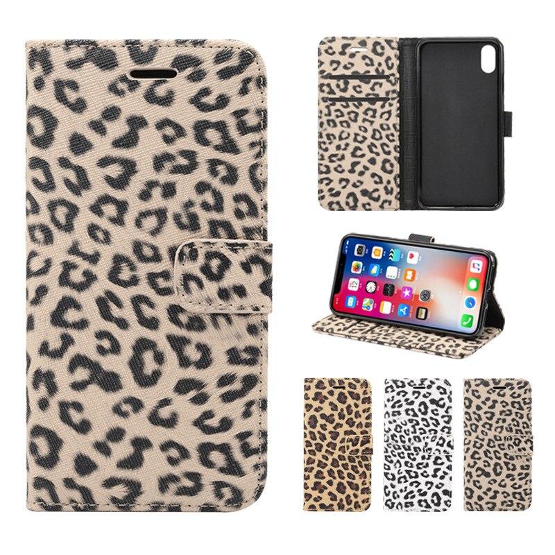 FLYKYLIN бумажник флип чехол для iphone 11 Pro Max XS XR X 6 6S 7 8 Plus 5 5S SE 2 Чехол на Леопардовый принт кожаный чехол новый