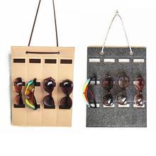 12 Slots Sunglasses Organizer Sunglasses Storage Rack Holder Storage Sunglasses Felt Wall Hanging Bag Glasses Display Organizer