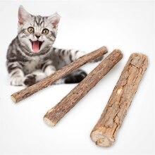 2 pièces/3 pièces chat nettoyage dents naturel cataire chat molaire bâton Silvervine Matatabi chaton collations bâtons