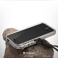 Чехол для Apple iPhone 5 5S SE, роскошный робот с металлической пряжкой, противоударный Премиум алюминиевый бампер для IP5S