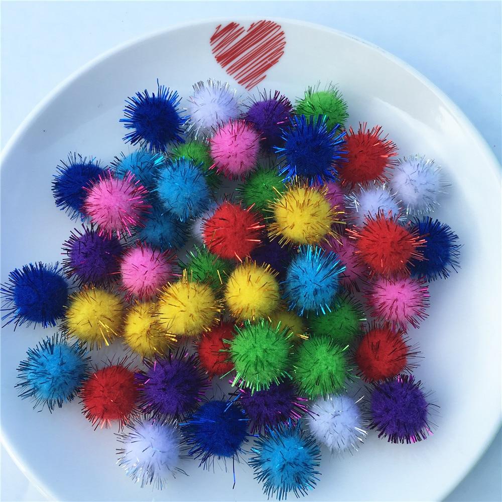 100pcs 20mm Colorful Pompom Mini Fluffy Soft Pom Poms Fluffy Plush Ball Kid Toys Handmade Wedding Decor DIY Craft Supplies