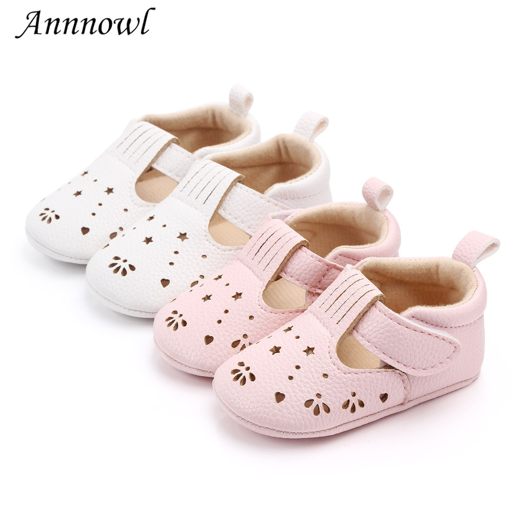 Fashion Brand Baby Girl Shoes Soft Sole PU Leather Toddler First Walker Cartoon Newborn Infant for 1
