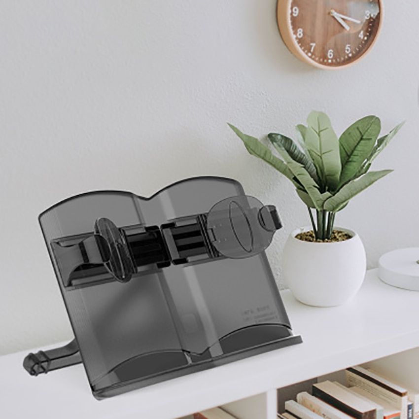 ABS 180° Adjustable Reading Bookends Portable Multi-functional Book Magazine Stand Kids Study Helper Office Home Desk Supplies