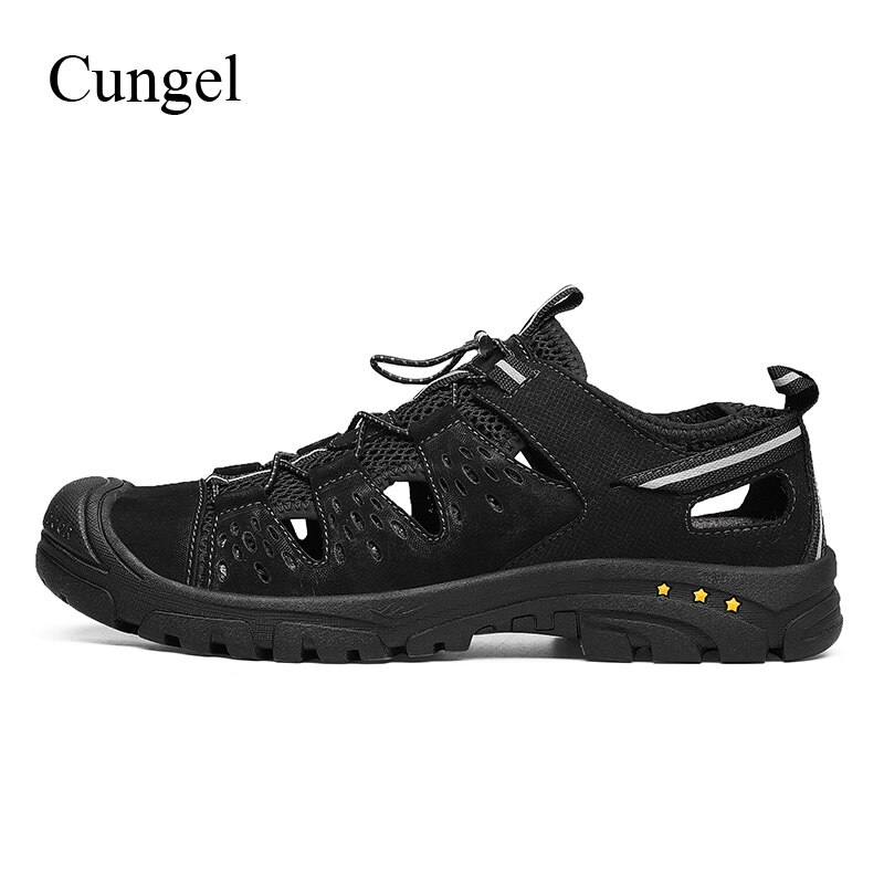 Cungel Men Outdoor Hiking shoes Spring/Summer Breathable Soft Sandals Mountain Climbing shoes Trekking Non-slip Walking shoes