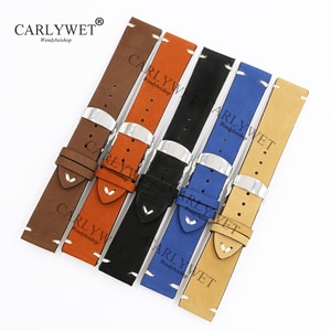 CARLYWET 20 22 24mm Leather Brown Black Khaki VINTAGE Replacement Wrist Watch Band Strap For Omega Rolex IWC Vacheron Constantin