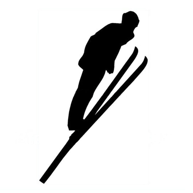 9*14.5CM Car Sticker Decals Extreme Sports SKIING Waterproof Motorcycle Stickers Car Styling Accesso