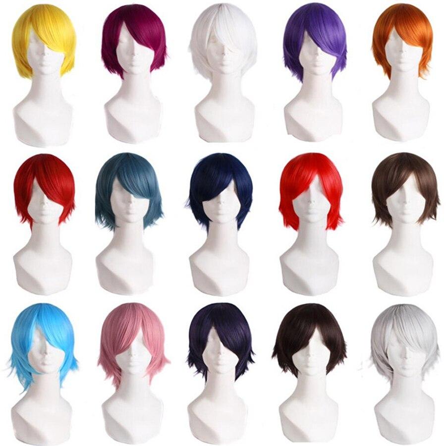"""MapofBeauty 12 """"короткие вьющиеся волосы синтетические парики 20 цветов s черный желтый белый коричневый блонд многоцветный косплей парик термостойкие"""