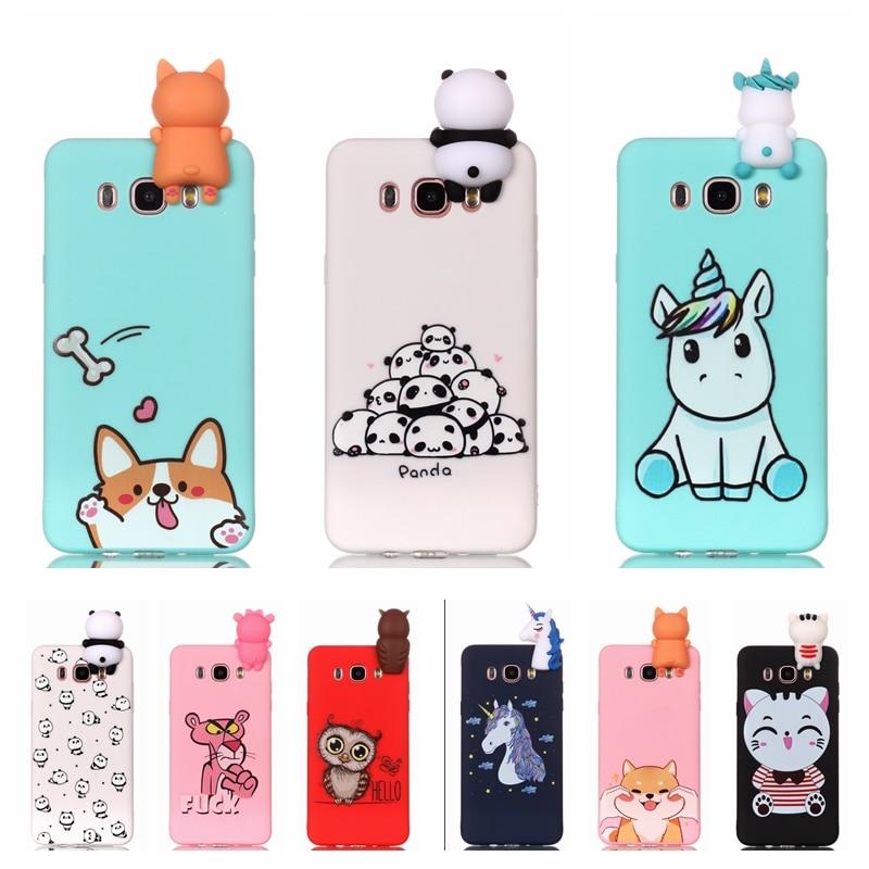 Etui для samsung Galaxy J5 2016 j510 чехол для телефона 3D Единорог Panda собачий силиконовый чехол на СПС Coque samsung J5 J3 J7 J случаях
