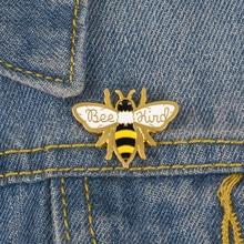 Joyería qihe abeja tipo Pin cariño broche abeja Pin de solapa ser esmalte pin Pin joyería broches para hombres y mujeres