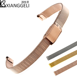 Watch Accessories Ultra-thin steel band Metal strap Suitable for all types of men's and women's waterproof stainless steel strap