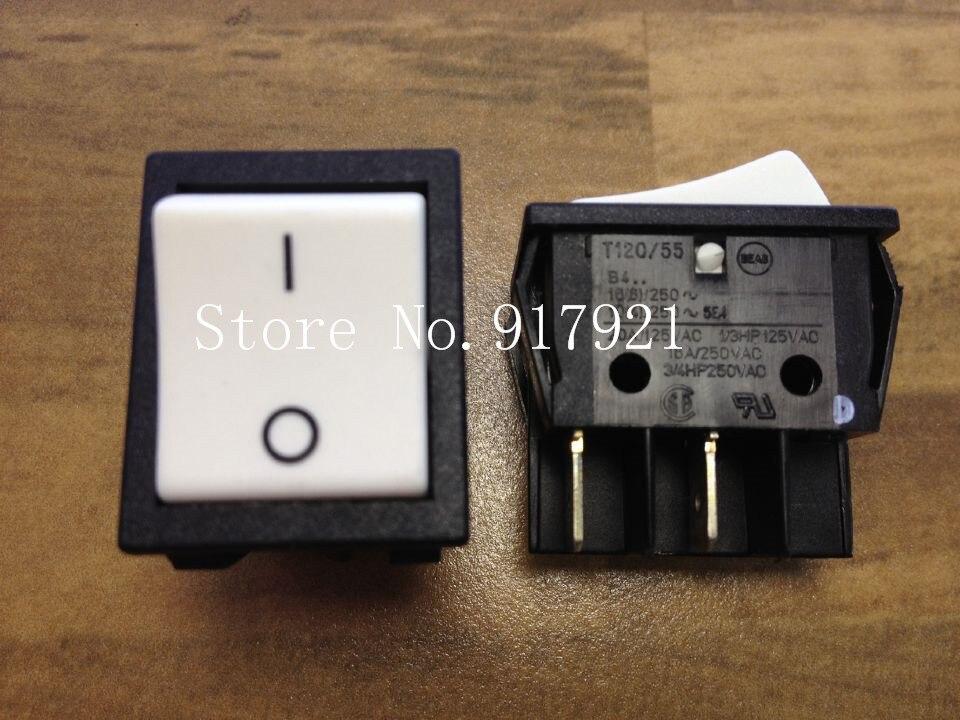 [ZOB] B4 T120/55 16A250V 3/4HP250VAC импортный Серебряный контактный клавишный выключатель питания -- 20 шт./лот