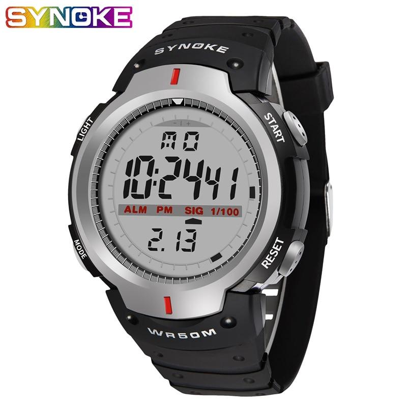 Relojes SYNOKE Kol Saati para Hombre, 30 M, impermeables, electrónicos LED, digitales, para exteriores, Relojes de muñeca deportivos para Hombre, Relojes para Hombre