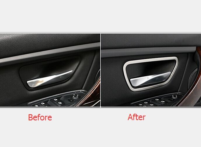 Inner Decoration Accessories Door Interior Handle Bowl Cover Trim For BMW 3 Series F30 316i 320i 328i 2013 2014 2015