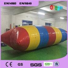 Livraison gratuite 6*2 m 0.9mm PVC eau saut oreiller gonflable Trampoline deau gonflable Blob deau