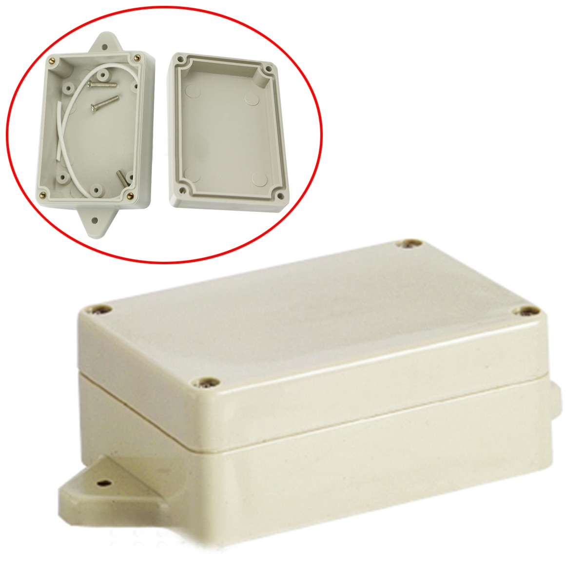 1 шт. водонепроницаемый корпус пластиковый электронный проект крышка коробка 85x58x33 мм Mayitr для блока питания